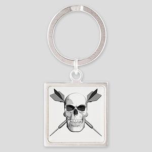 dart_skull Square Keychain
