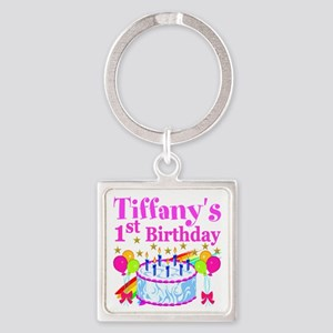 PERSONALIZED 1ST Square Keychain