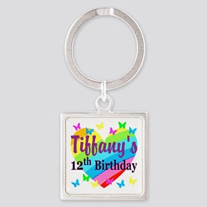 PERSONALIZED 12TH Square Keychain