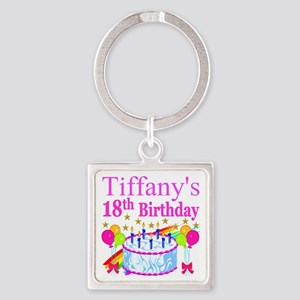 PERSONALIZED 18TH Square Keychain