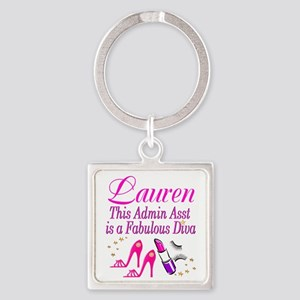 TOP ADMIN ASST Square Keychain