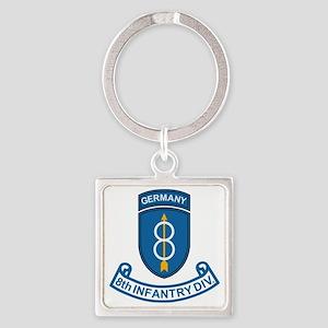 Army-8th-Infantry-Div-6-Bonnie Square Keychain