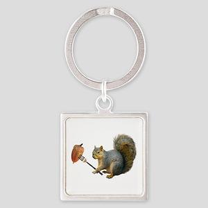 Squirrel Acorn Fork Keychains