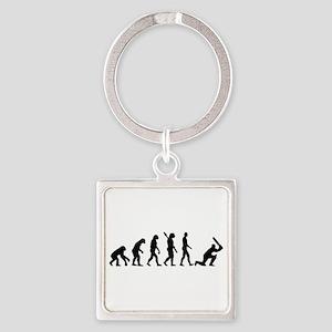 Evolution Cricket Square Keychain