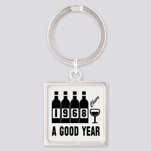 1968 A Good Year, Cheers Square Keychain