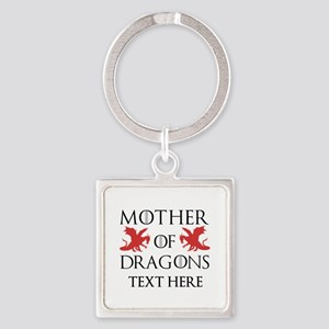 Mother of Dragons Personalizd Square Keychain
