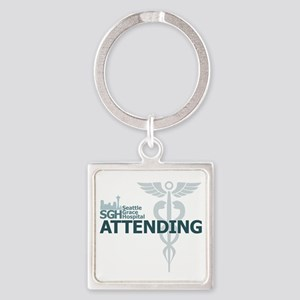 Seattle Grace Attending Square Keychain
