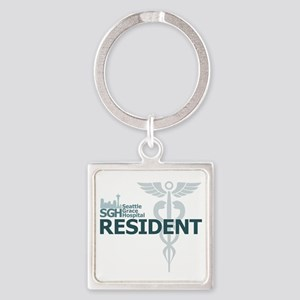 Seattle Grace Resident Square Keychain