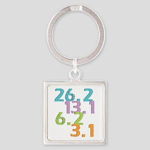 runner distances Square Keychain