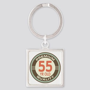 55th Birthday Vintage Square Keychain