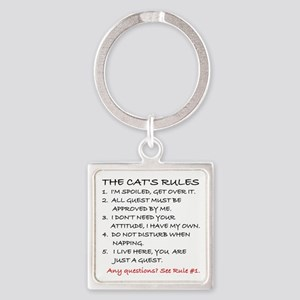THE CAT'S RULES Square Keychain