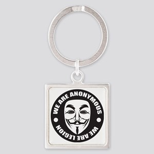 We Are Anonymous Square Keychain