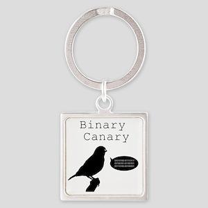 binarycanary Square Keychain