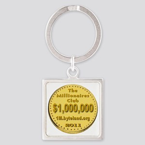 1M_Club_goldcoin_transparent Square Keychain