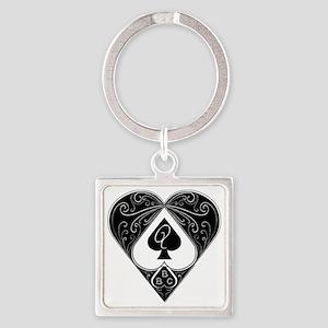 Bbc & Queen Of Spades 2 Keychains