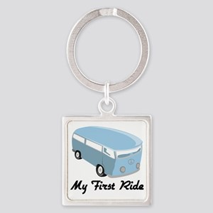 My First Ride Square Keychain
