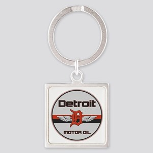 Detroit Motor Oil copy Square Keychain