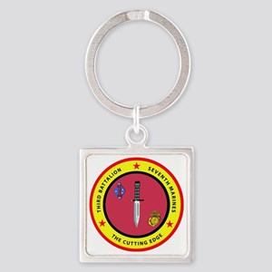 SSI-7TH MARINE RGT-3RD BN Square Keychain