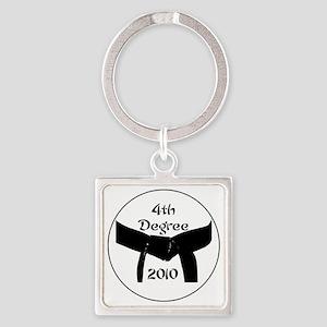 4th dan black belt 2010 Square Keychain
