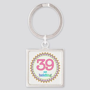 Number 39 and Holding Sherbert Zig Square Keychain