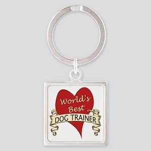Dog trainer Square Keychain