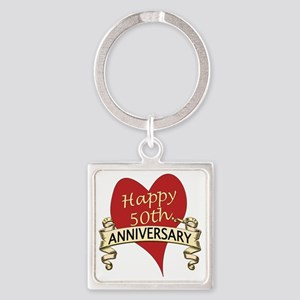 50th. anniversary Square Keychain