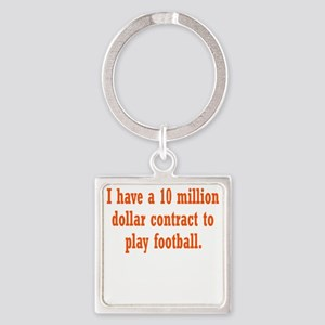 football-contract3 Square Keychain