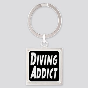 Diving Addict Square Keychain