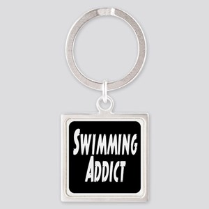 Swimming addict Square Keychain