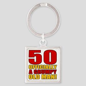 GrumpyOldMan50 Square Keychain