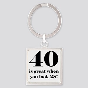 40th Birthday Humor Square Keychain
