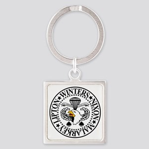 Band of Brothers Crest Square Keychain