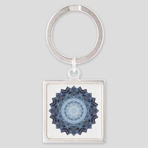 Blue Star Kachina Yoga Mandala Shi Square Keychain