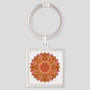 Earth Mandala Yoga Shirt Square Keychain