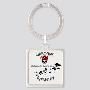 airborne infantry Square Keychain