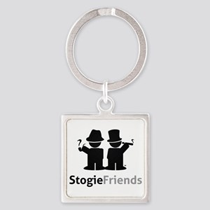 Stogie Friends Swag - Black Design Square Keychain