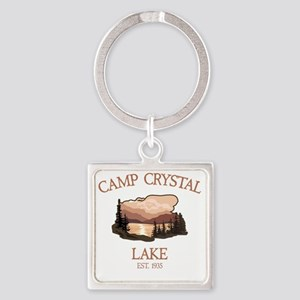 Camp Crystal Lake Counselor Square Keychain