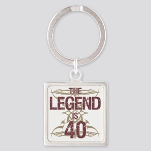 Men's Funny 40th Birthday Square Keychain