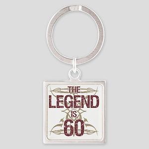 Men's Funny 60th Birthday Square Keychain