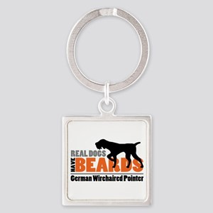 Real Dogs Have Beards - Gwp Square Keychains