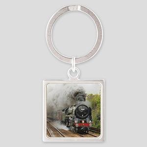 locomotive train engine 2 Square Keychain
