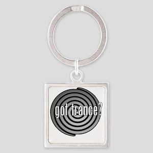 got trance? (spiral) Square Keychain