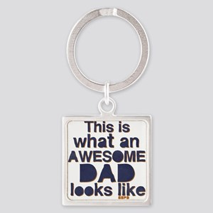 Awesome Dad Square Keychain