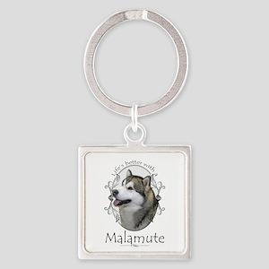Life's Better Malamute Keychains