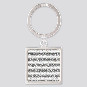 Thelemic Fable Square Keychain