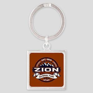Zion Vibrant Square Keychain