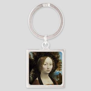 Leonardo da Vinci - Ginevra de Ben Square Keychain