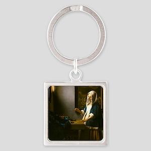 Woman Holding a Balance by Johannes Vermeer Keycha