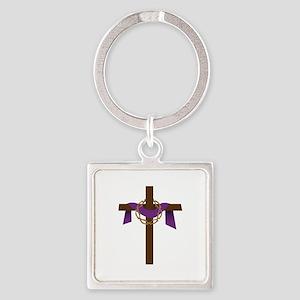 Season Of Lent Cross Keychains