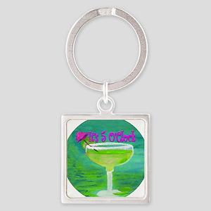 5 OClock Margarita Square Keychain